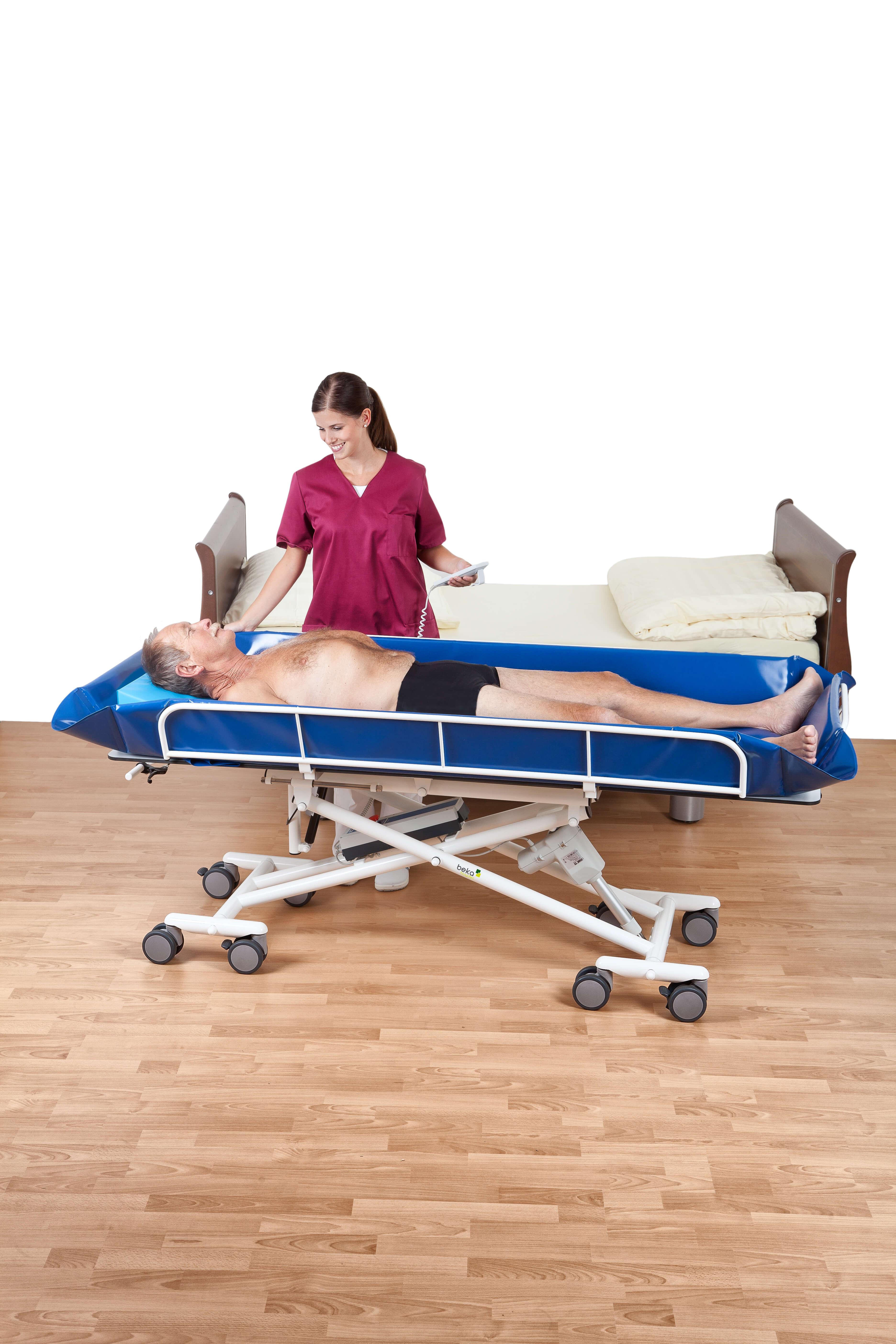 nursing equipment shower trolley electric medical gif lm t furniture