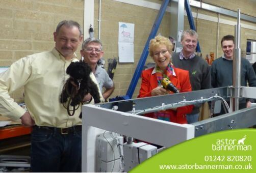 Christine Hamilton Visits Gloucester Disability Equipment Company