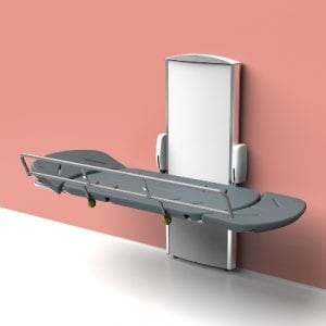 CTX Ergonomic Wall Mounted Electric Shower and Changing Table