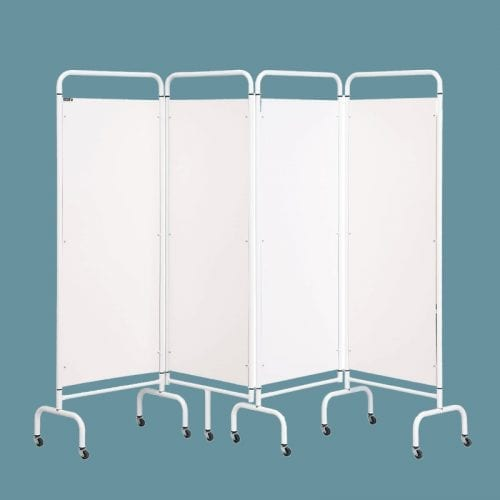 Astor Freestanding concertina style Mobile Privacy Screen, designed for use in a Changing Places Toilet