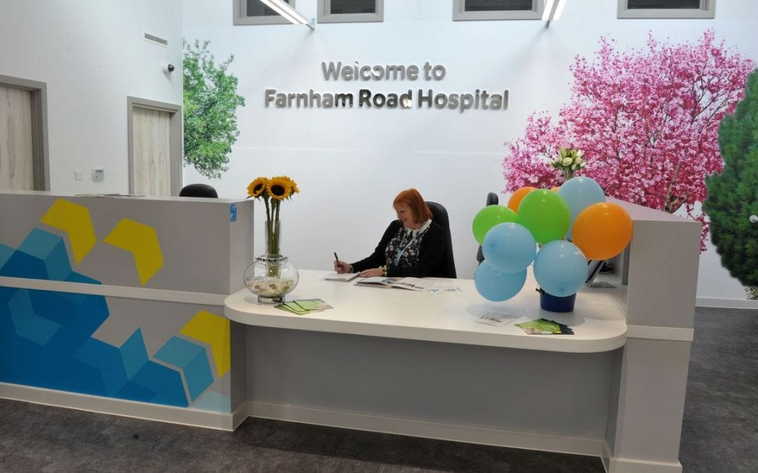 Farnham Road Hospital, Guildford Picture courtesy of: Surrey and Borders Partnership NHS Foundation Trust